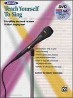 Teach Yourself to Sing Sheet Music Book with DVD Learn How To Method Alfred