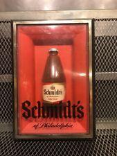 SCHMIDT'S Of Philadelphia BREWING ~ RARE Shadowbox Light Beer Bottle Tacker Sign