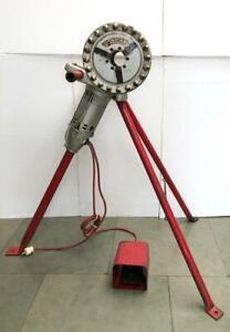 RIDGID NO.270 PIPE THREADER/ THREAD MACHINE 230V WITH STAND & FOOT SWITCH