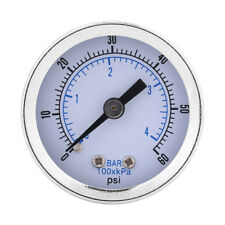 "0-60psi/0-4bar 1/8"" BSPT Thread Pressure Gauge Manometer for Gas Water Oil Hot"