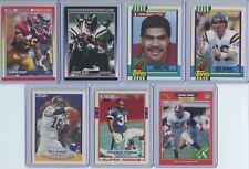 1989-90 7 Rookie Card Lot Inc. Seau (x3), Gannon (x2), T. Thomas, D. Thomas