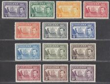 St Helena 1938-44 King George VI Badge Part Set to 10sh Mostly Mint