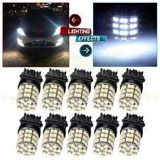 10x For Car Tail Brake Stop Light White 3157 54-SMD LED Blubs 3457 4157 3047