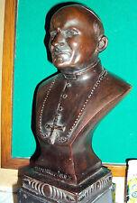 busto papa giovanni paolo II fusione in bronzo cera persa h 28 cm