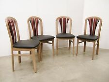 New Set Of 4 Four Schoss Austrian Upholstered Chairs In Walnut Colour