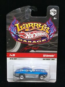 2010 Hot Wheels Larry's Garage #7 of 20- '63 Corvette with real riders