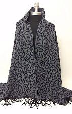 Women Winter Blanket Long Scarf Wrap Shawl Soft Pashmina Print Navy/Black/White