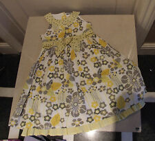 George Adorable Yellow, Mocha & White Flare Dress Kids Dress Girl Age 3-4 Years