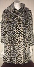 TOPSHOP Premium In Finta Pelliccia Leopardo stampa Leopard cappotto UK 10 EU 38 US 6