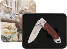 Browning 'Whitetail' lockback knife gift tin - 3220069