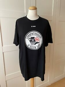 """SGE Eintracht Frankfurt T-Shirt """"EUROCUUUUP!"""" XL Top Zustand schwarz mit Bämbel"""