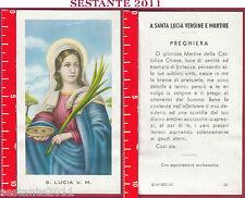 2861 SANTINO HOLY CARD S. LUCIA VERGINE MARTIRE ED. G MI. LOGO C MEDIA CONSERVA.
