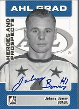 Toronto Maple Leafs JOHNNY BOWER Signed AHL Heroes & Prospects Card