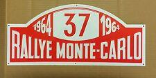 Monte Carlo Rallye Paddy Hopkirk Metal Plaque Garage Wall Decor 44 X 20 Cm