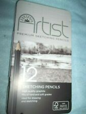 12 Sketching Pencils by Fantasia New!
