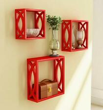 Wooden cube set of 3/Free shipping Wall Shelves Wall Mounting Wooden Shelve