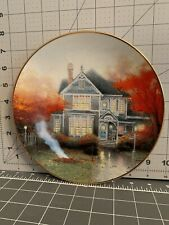 """Thomas Kinkade """"Amber Afternoon� Collector's Plate ~ Home Is Where The Heart Is"""