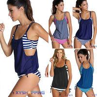 Womens Tankini Bikini Set Push up Padded Swimsuit Bathing Suit Swimwear Beach