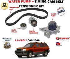 FOR HYUNDAI SANTA FE 2.0 CRDI VGT 2001-2006 TIMING CAM BELT KIT + WATER PUMP SET