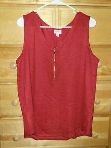 LuLaRoe Red Rachael Top Size Medium Nwt