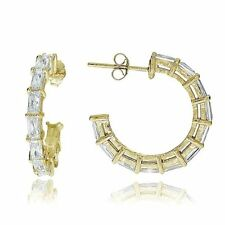 Yellow Gold Flashed Simulated Fine Earrings