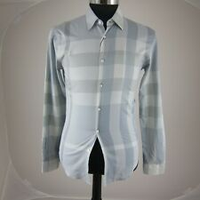 J-2275105 New Burberry Stone Grey Long Sleeve Button Shirt Size Small
