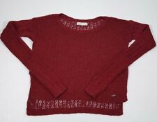MS&Co Abercrombie And Fitch Red Long Sleeve Women's Knit Sweater Size Small
