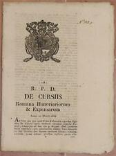 SENTENZA SACRA ROTA ROMA ROME LAZIO EGIDIO DE CAROLIS ROCRUE PROCURA 1834