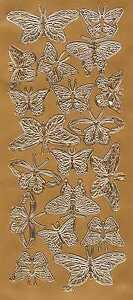 Butterfliy Peel - Off Stickers in Gold