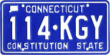 Connecticut CONSTITUTION STATE BLUE License Plate