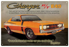 CHRYSLER VALIANT CHARGER R/T E49  TIN SIGN 20x 30cm  True Aussie Muscle Car
