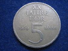 """MDS DDR 5 MARK 1969  """"XX JAHRE DDR"""""""
