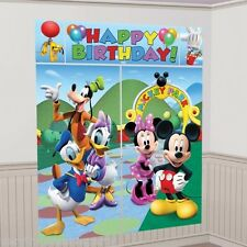 Mickey & Minnie Mouse Club House Birthday Wall Decorating Kit Party Scenesetter