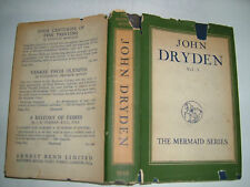 JOHN DRYDEN VOL 1.GEORGE SAINTSBURY.H/B D/J 1949