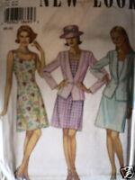 6465 Vintage UNCUT New Look SEWING Pattern 8 10 12 14 16 18 Dress Jacket FF OOP