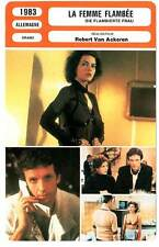 FICHE CINEMA : LA FEMME FLAMBEE - Landgrebe,Carrière 1983 A Woman in Flames