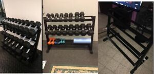"""CAP Barbell 3 Tier Dumbbell Rack, 51"""" Weight Gym Home Storage 1000 lb Capacity"""