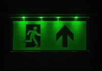 Notleuchte Notbeleuchtung Exit Notausgang Fluchtwegleuchte Notlicht Fluchtweg mi