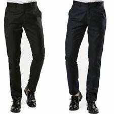 Pantalone Uomo Elegante Blu Nero Chino Jeans Comfort Casual Tasca America VEQUE