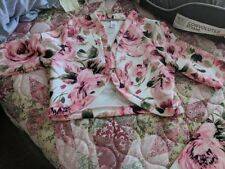 women 2 piece skirt set pink with flowers new...................................