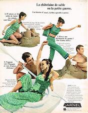 PUBLICITE ADVERTISING 055  1966  ARNEL  tenues de plage  pyjamas jupes-pantalon