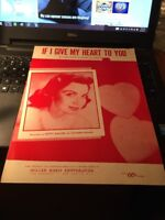 Sheet Music: If I give My Heart to you, Kitty Kallen 1954