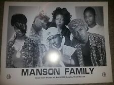 MANSON FAMILY - TOMMY WRIGHT III> OG AUTOGRAPH PIC/MEMPHIS RAP