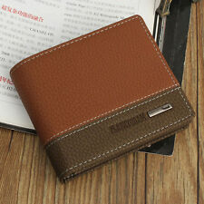 Men's Leather Credit Card Wallet Holder Slim Mini Travel Business Purse Clu {18}