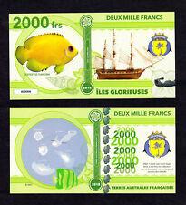 ILES GLORIEUSES ● TAAF / COLONIE ● BILLET POLYMER 2000 FRANCS ★ N.SERIE 000008
