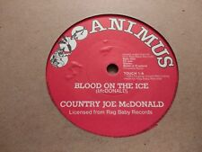 "COUNTRY JOE McDONALD * BLOOD ON THE ICE * 7"" SINGLE 1983 EXCELLENT"