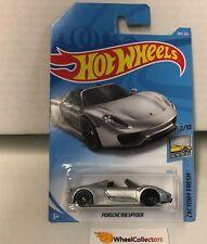 Porsche 918 Spyder #184 * Silver * 2018 Hot Wheels International Case H