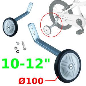 "KIDS CHILDS BIKE CYCLE STABILISERS TRAINING WHEELS 10"" TO 12"" PAIR NEW BAR KIDS"