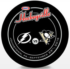 2015 Kraft Hockeyville USA Official Game Hockey Puck Pittsburgh vs Tampa Bay