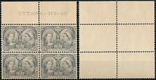 CANADA 1897, DIAMOND JUBILEE, 15 $ VAL, UM/NH FORGERY PLATE BLOCK X 4. #N180